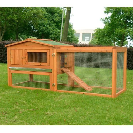poulailler clapier bois 155x53x70cm poule naine achat vente poulailler poulailler clapier. Black Bedroom Furniture Sets. Home Design Ideas