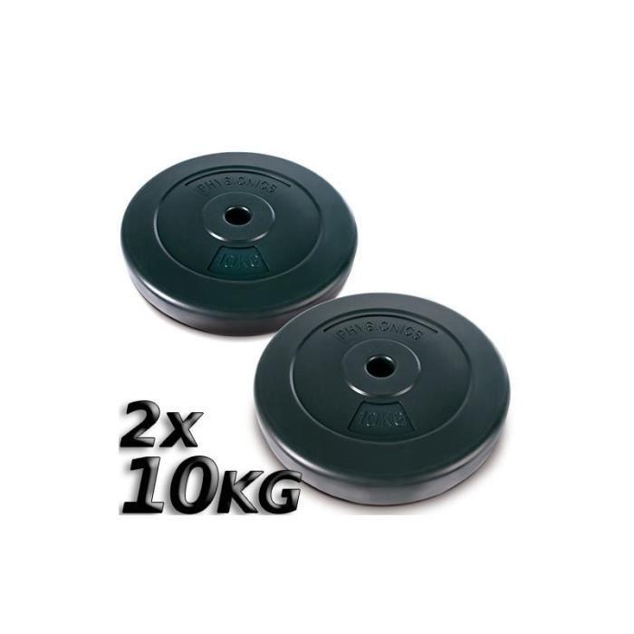 2 x disques d 39 halt res poids 10kg sport fitness musculation 0701052 prix pas cher cdiscount. Black Bedroom Furniture Sets. Home Design Ideas