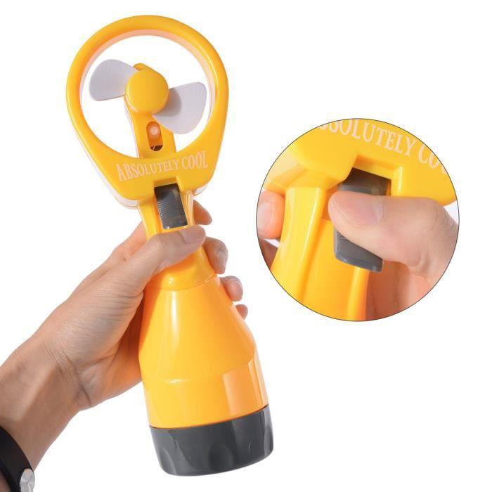 xcellent global ventilateur vaporisation d 39 eau portable avec un cordon et crochet jaune m. Black Bedroom Furniture Sets. Home Design Ideas