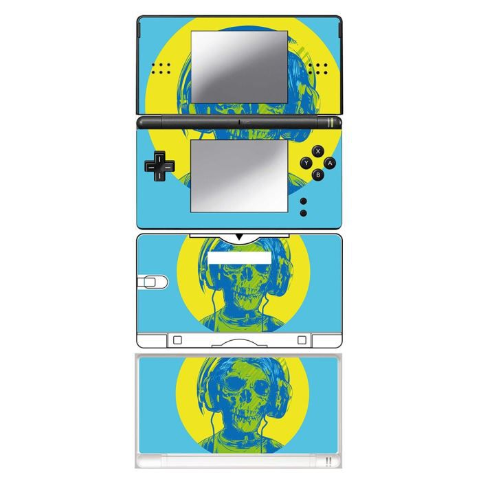 skin stickers pour nintendo ds lite sticker skull with headphones achat vente protection. Black Bedroom Furniture Sets. Home Design Ideas