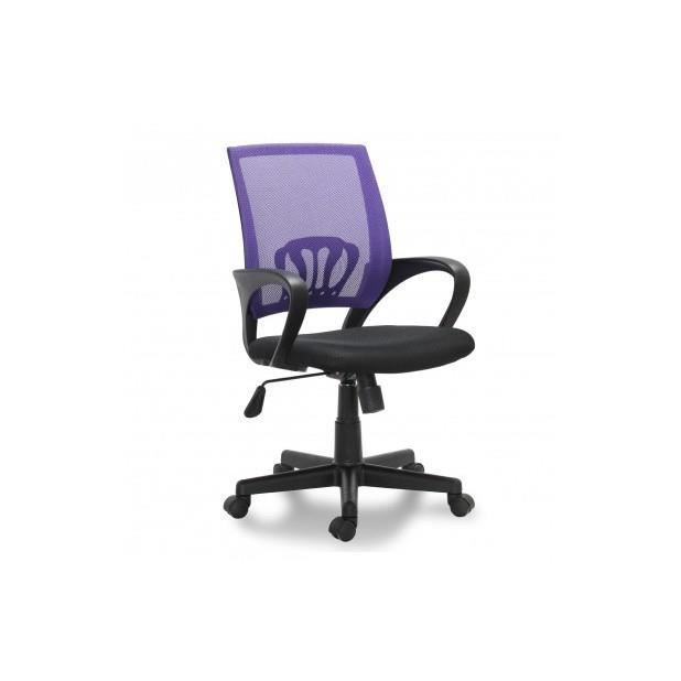 Si ge de bureau violet ergonomique avec accoudoirs achat for Meilleur siege de bureau