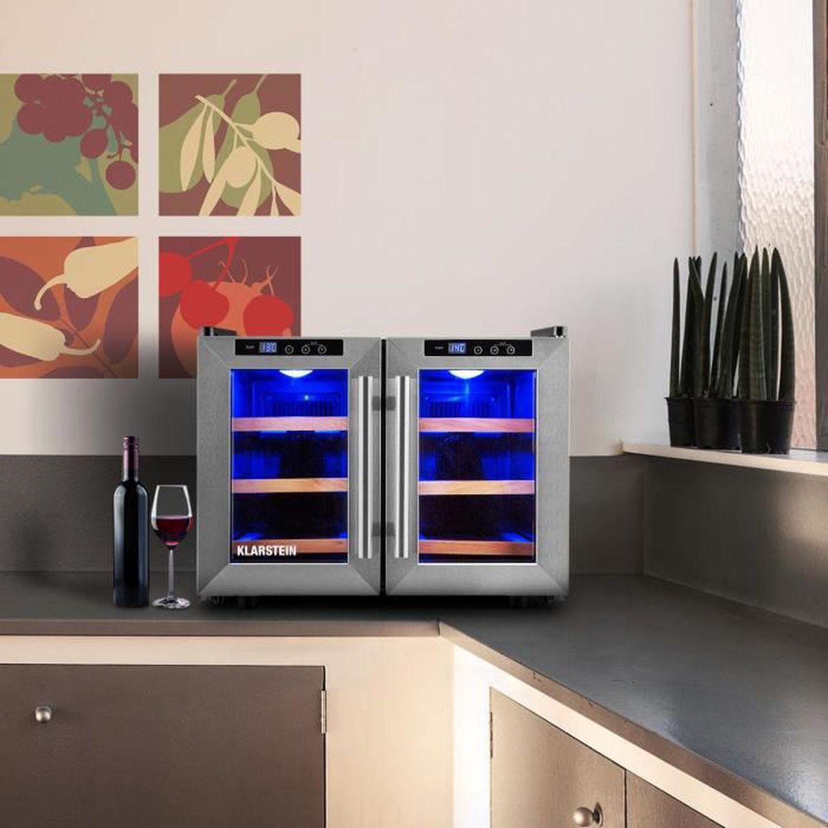 klarstein reserva saloon set cave vin r frig r e 40l tag re achat vente cave vin. Black Bedroom Furniture Sets. Home Design Ideas