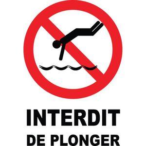 Panneau interdit de plonger achat vente alarme for Alarme de piscine linxor jb p 03