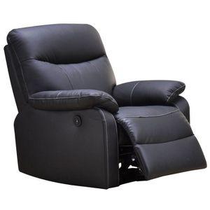 fauteuil 1 place noir cuir achat vente fauteuil 1 place noir cuir pas cher cdiscount. Black Bedroom Furniture Sets. Home Design Ideas