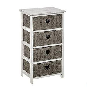 chiffonier 4 tiroirs achat vente chiffonier 4 tiroirs pas cher cdiscount. Black Bedroom Furniture Sets. Home Design Ideas