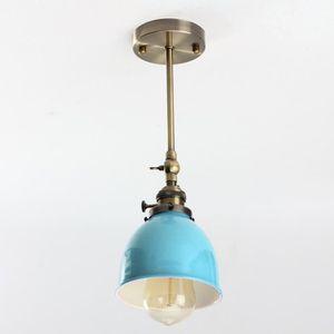 Luminaire suspension metal bleu achat vente luminaire for Suspension luminaire soldes