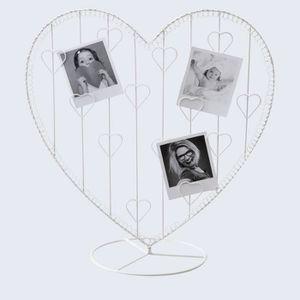 cadre photo en forme de coeur achat vente cadre photo en forme de coeur pas cher cdiscount. Black Bedroom Furniture Sets. Home Design Ideas