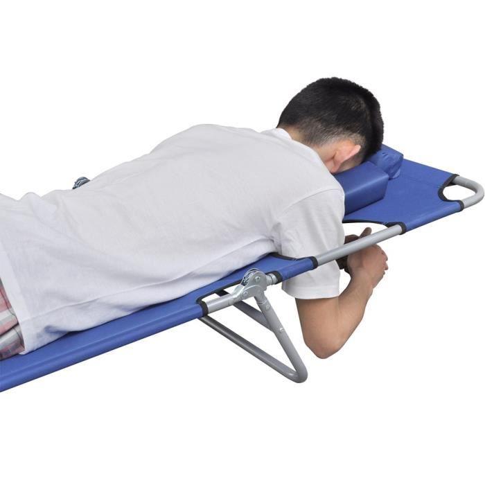 bains de soleil chaise longue pliable avec tete coussin et. Black Bedroom Furniture Sets. Home Design Ideas
