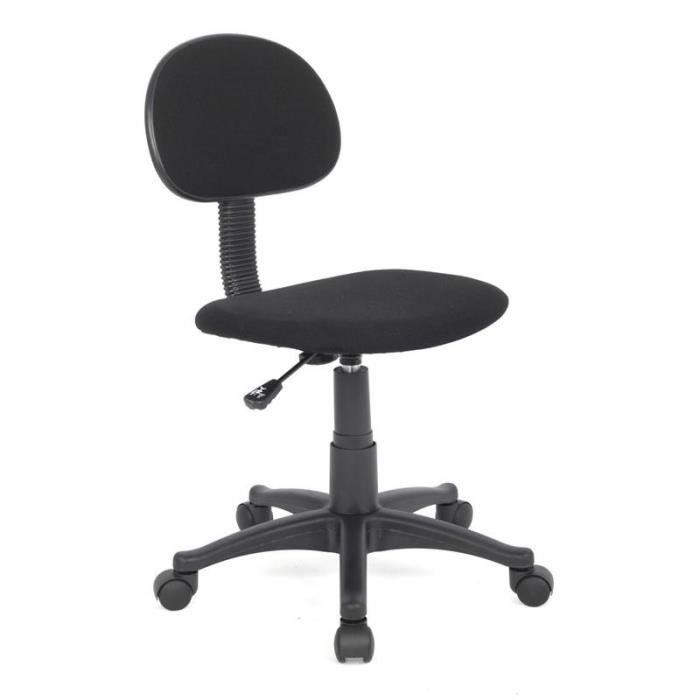 chaise de bureau noire myco00497 achat vente chaise de bureau noir soldes cdiscount. Black Bedroom Furniture Sets. Home Design Ideas
