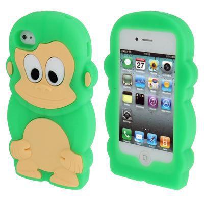 Coque siliconne singe 3d pour iphone 4 achat vente for Cuisine 3d pour iphone