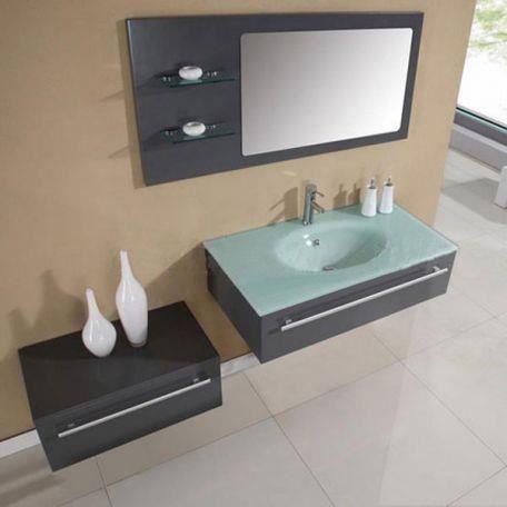 Sd682gt meuble salle de bain gris taupe achat vente for Meuble salle de bain taupe