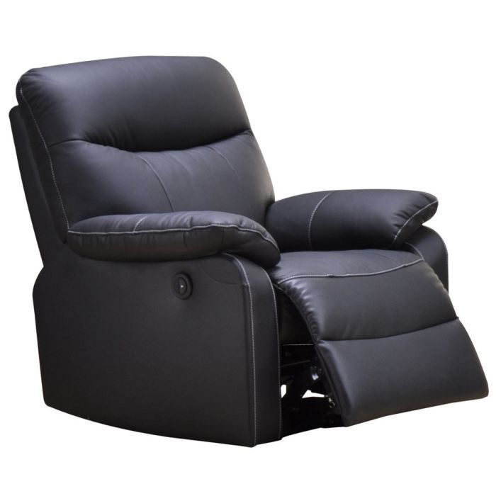 fauteuil relaxation 1 place switsofa swan noir achat. Black Bedroom Furniture Sets. Home Design Ideas