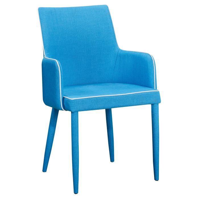 Chaise en tissus design ligne contrast e avec accoudoirs for Chaise en ligne