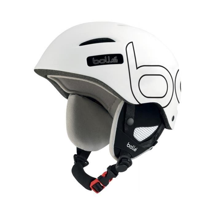 casque de ski bolle b style blanc noir 58 61 prix pas. Black Bedroom Furniture Sets. Home Design Ideas