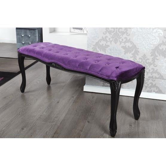 banc design berangere violet achat vente banc polyester cdiscount. Black Bedroom Furniture Sets. Home Design Ideas