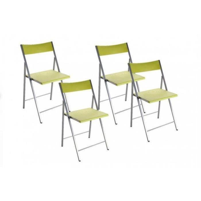 Belfort est une s rie de chaises color es plian achat for Chaises colorees