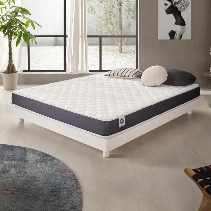 matelas ergolatex 120x190 cm blue latex 7 zones de confort 3701129936344 achat vente matelas. Black Bedroom Furniture Sets. Home Design Ideas
