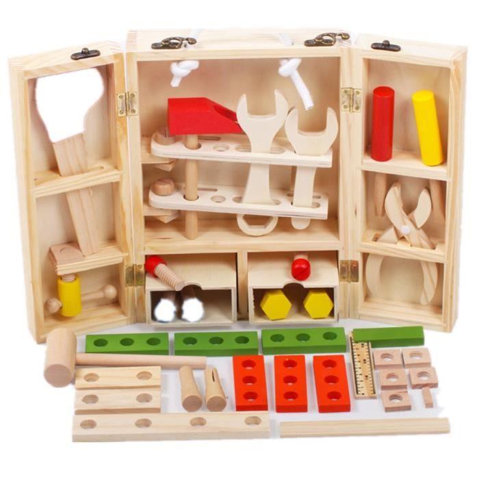 jouets ducatifs en bois jeu d 39 outils de jeu de pr tendre pour les gar ons achat vente. Black Bedroom Furniture Sets. Home Design Ideas