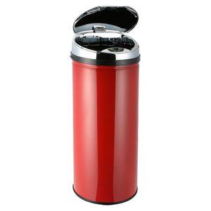 FRANDIS Poubelle automatique 45L Rouge + seau