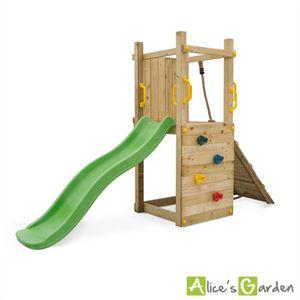 aire de jeux exterieur en bois achat vente jeux et jouets pas chers. Black Bedroom Furniture Sets. Home Design Ideas