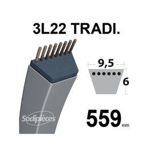 DÉBROUSSAILLEUSE  Courroie 9,5 mm x 559 mm 3L220 pour Stafor forme T