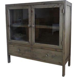 meuble haut cuisine avec vitrine achat vente meuble haut cuisine avec vitrine pas cher. Black Bedroom Furniture Sets. Home Design Ideas