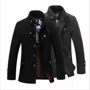 MANTEAU - CABAN 2015 Manteau de laine épaissie de l'hiver Hommes