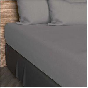 DRAP HOUSSE Drap housse 90x200 cm en coton SO gris