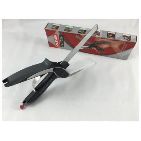 clever cutter remplace vos couteaux et planche d couper ciseaux alimentaire facile d. Black Bedroom Furniture Sets. Home Design Ideas