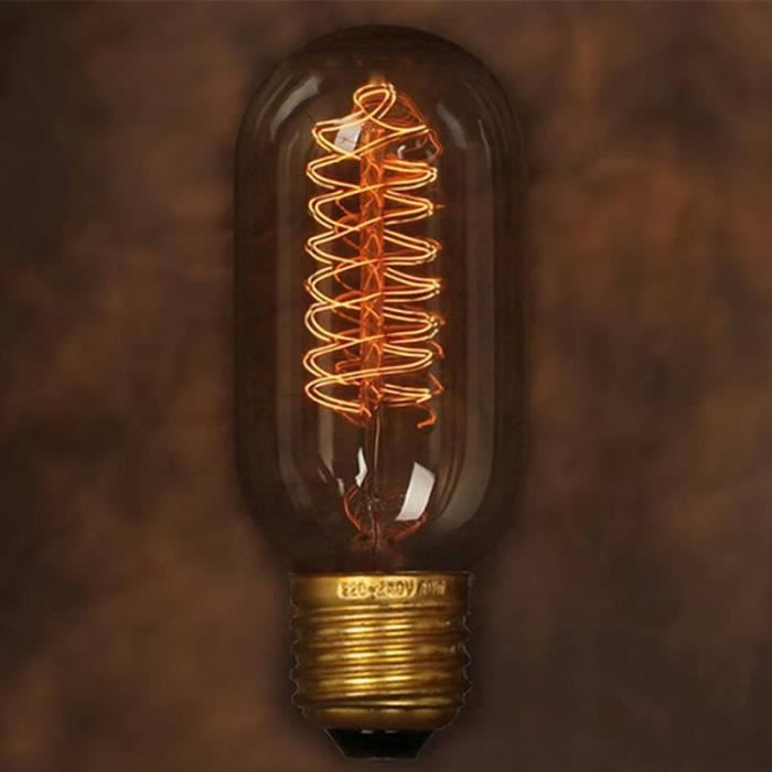 edison tungsten filament vintage antique e27 incandescent light lamp 40w 110v lighting droplight. Black Bedroom Furniture Sets. Home Design Ideas