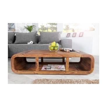 Table basse en bois marinetta achat vente table basse - Salon de sejour en bois ...