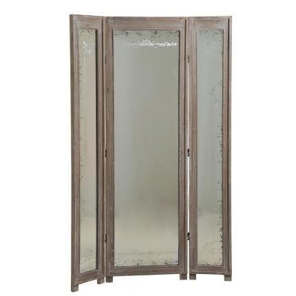 miroir paravent 3 volets achat vente miroir cdiscount. Black Bedroom Furniture Sets. Home Design Ideas