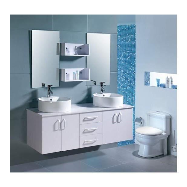 Magnifique meuble meuble salle de bain complet vitoria 2 for Meuble salle de bain complet
