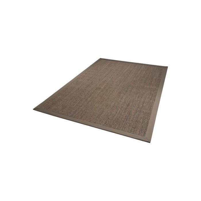 dekowe tapis mara marron clair 67x133 cm achat vente tapis cdiscount. Black Bedroom Furniture Sets. Home Design Ideas