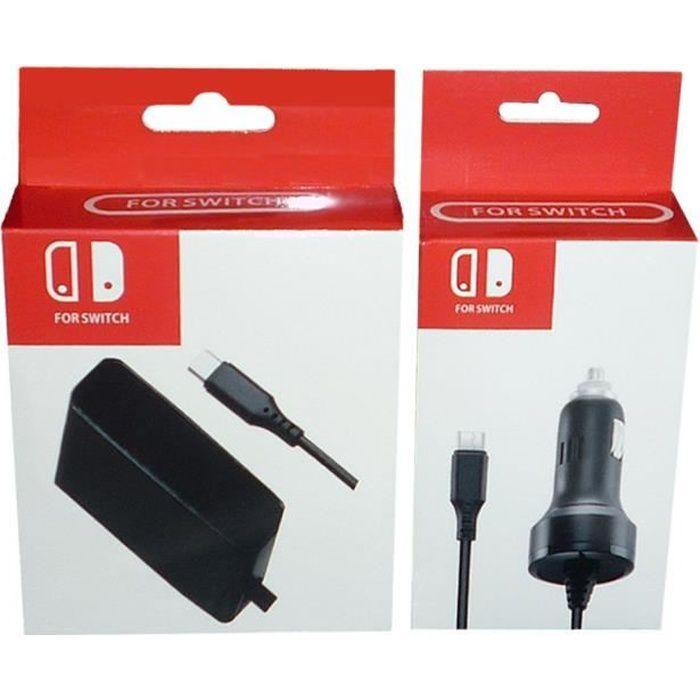 kit d 39 accessoires de chargeur pour adaptateur d 39 alimentation pour maison et voiture pour console. Black Bedroom Furniture Sets. Home Design Ideas