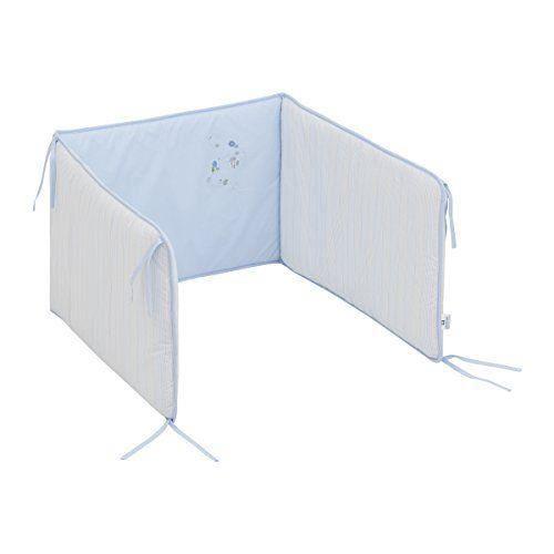cambrass tour de lit cami bleu 67 x 40 cm achat vente tour de lit b b 8432377344258 cdiscount. Black Bedroom Furniture Sets. Home Design Ideas