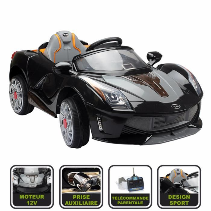 voiture lectrique pour enfant cristom t l commande parentale 12v achat vente voiture. Black Bedroom Furniture Sets. Home Design Ideas