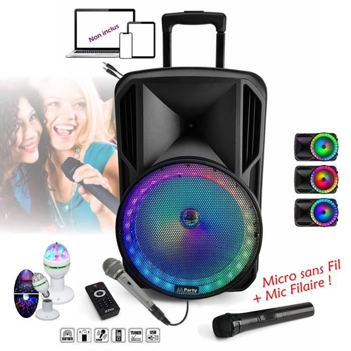 Karaok 233 800w Enceinte Amplifi 201 E Portable Usb Mp3 Sd