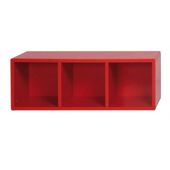 Cube de rangement 3 cases rouge id 39 clik achat vente - Meuble cube de rangement ...