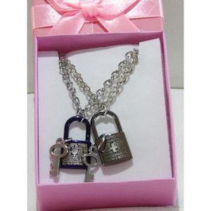 SAUTOIR ET COLLIER Coffret cadeau duo, saint valentin, amoureux, pend