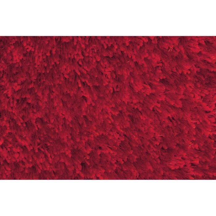 Allotapis tapis tuft m canique shaggy rouge andrew for Tapis rouge pour salon