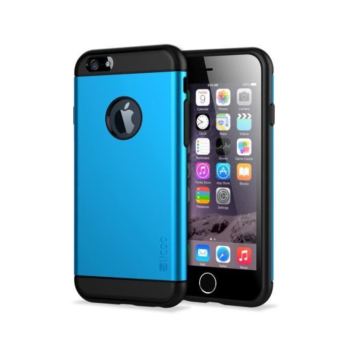 housse de protection shell couverture couche 4 7 iphone 6 bleu achat coque bumper