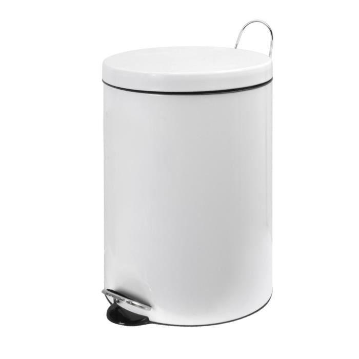 poubelle 20 l m tal frandis blanc achat vente. Black Bedroom Furniture Sets. Home Design Ideas