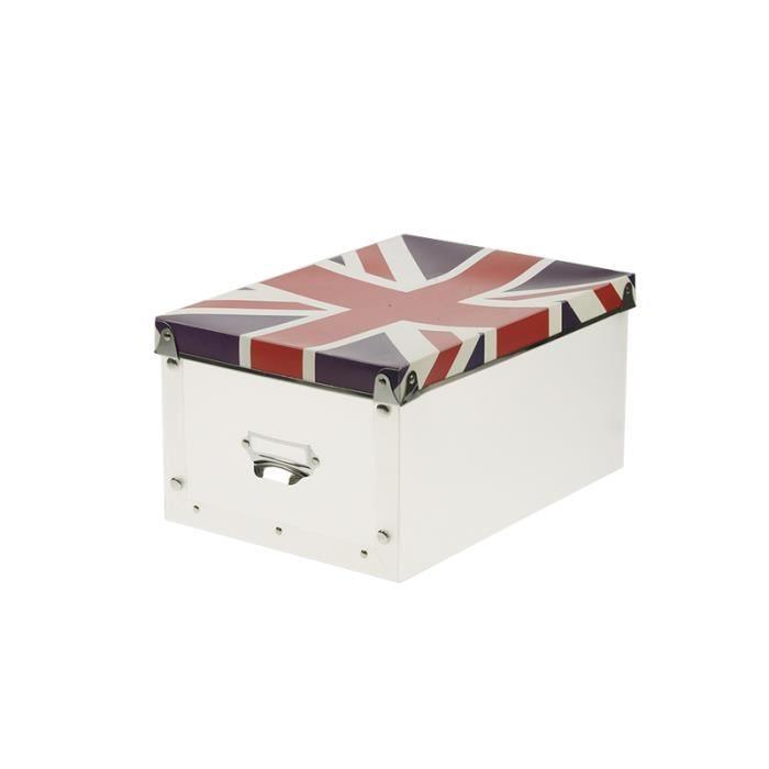 bo te pliable tendance motif drapeau anglais achat. Black Bedroom Furniture Sets. Home Design Ideas