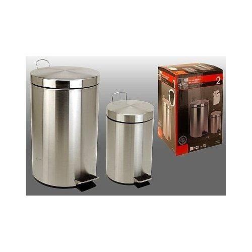 2 poubelles de cuisine en inox achat vente lot ustensiles 2 poubelles de cuisine en inox. Black Bedroom Furniture Sets. Home Design Ideas