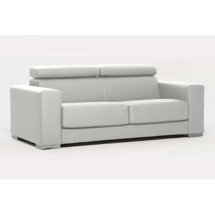canap convertible expresso simili cuir blanc achat vente canap sofa divan cuir. Black Bedroom Furniture Sets. Home Design Ideas