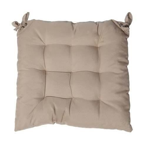 Lovely casa c74689003 nelson coussin capitonne polyester taupe 40 x 40 cm - Coussin anti transpirant ...