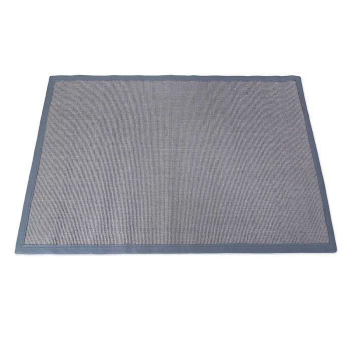 tapis de sisal en fibre naturelle coloris gris achat vente tapis cdiscount. Black Bedroom Furniture Sets. Home Design Ideas