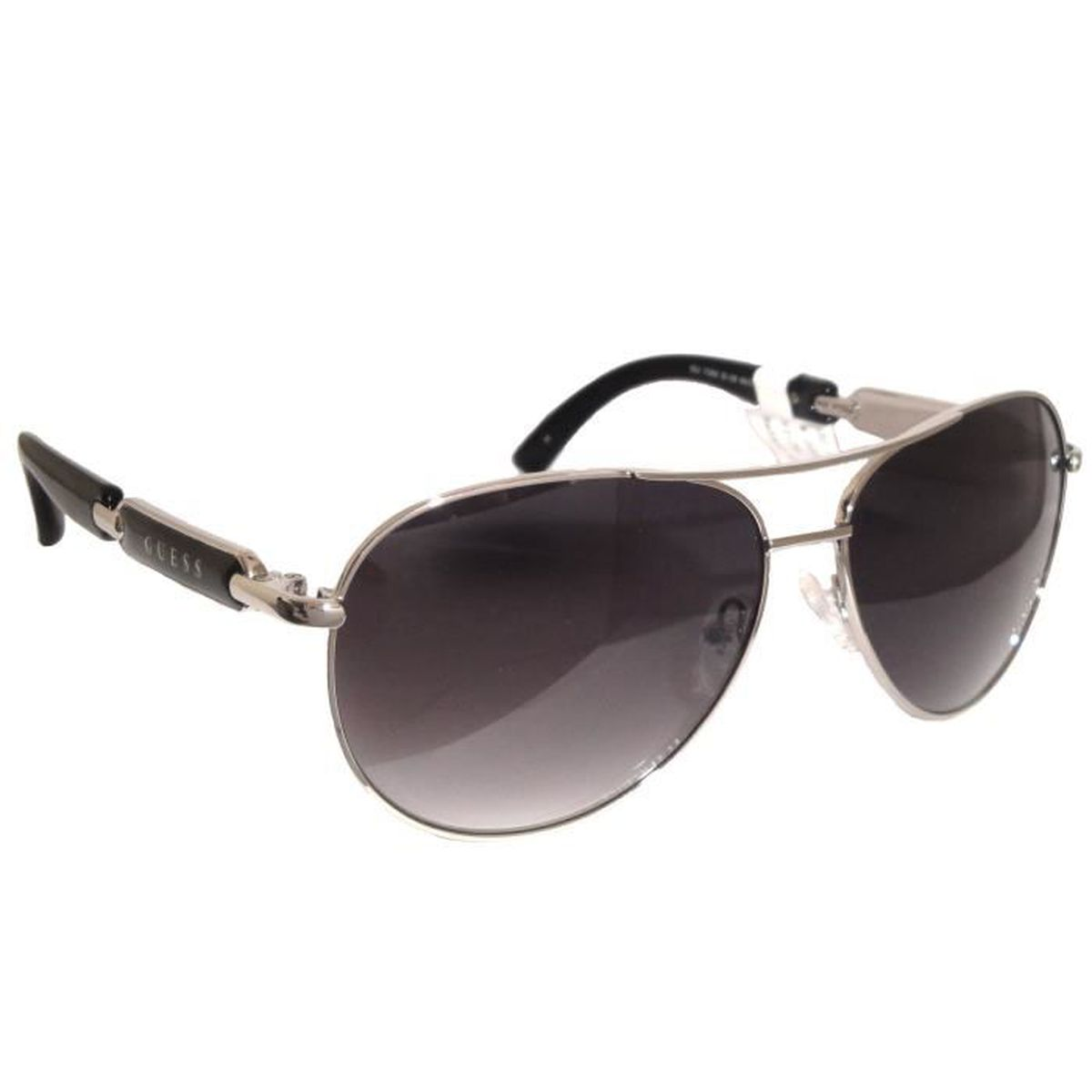 lunettes de soleil guess femme noir logo gu7295 noir et verre gris achat vente lunettes de. Black Bedroom Furniture Sets. Home Design Ideas