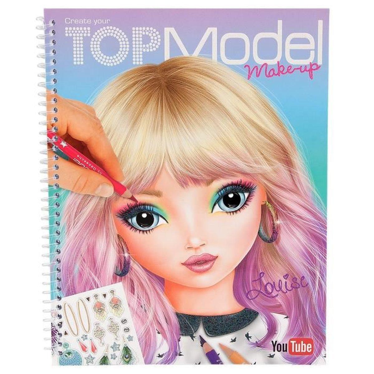 Album coloriage top model mod le visages make up louise - Album de coloriage top model ...